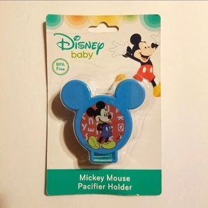 MICKEY MOUSE BLUE PACIFIER HOLDER